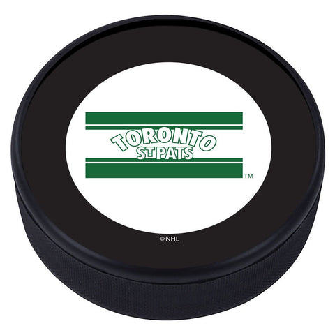 Toronto Maple Leafs Vintage Classic Textured Puck - St. Pats Flag