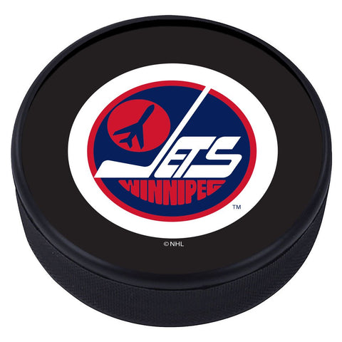 Winnipeg Jets Vintage Classic Textured Puck - Blue Logo