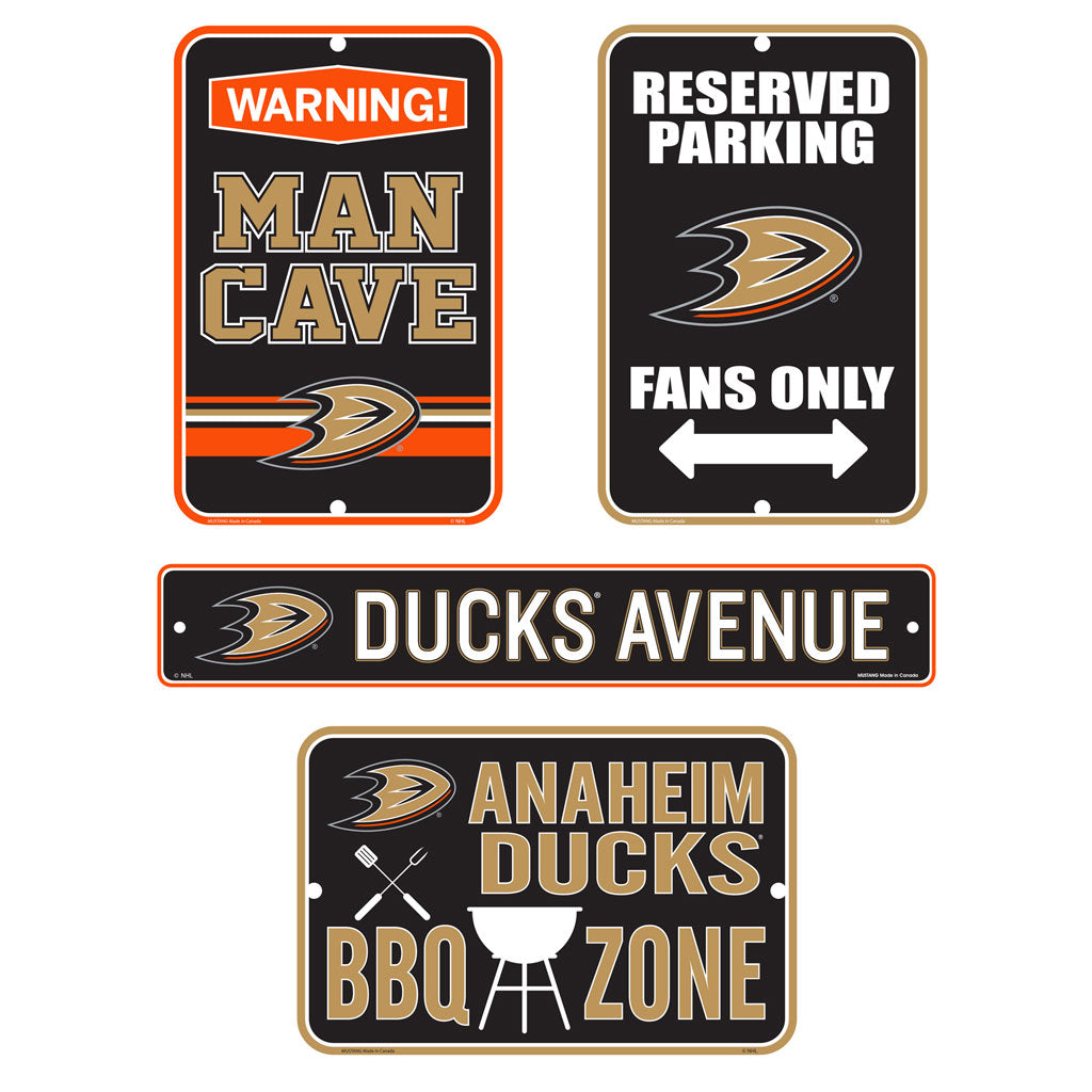 Anaheim Ducks Fan Four Pack Fan Sign Set