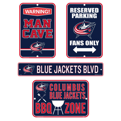 Columbus Blue Jackets Fan Four Pack Sign Set