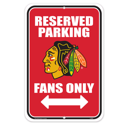 Chicago Blackhawks 10x15 Parking Sign
