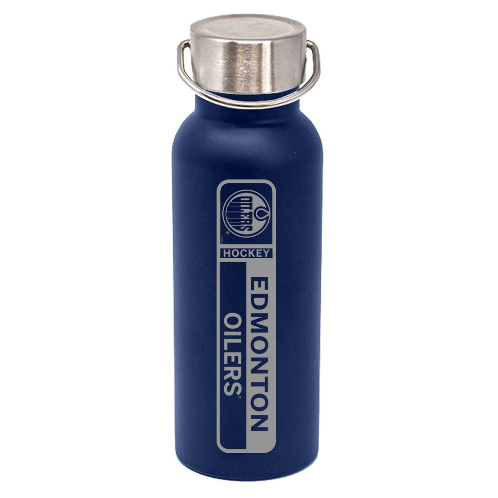 17oz Edmonton Oilers DuraEtch Powder Coated Stainless Steel Water Bottle - Blue