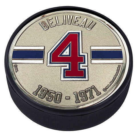 Medallion Puck - Montreal Canadiens 04 J.Beliveau Years