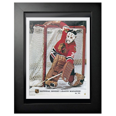 Chicago Blackhawks Program Cover - Tony Esposito NHL Magazine