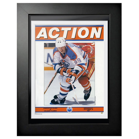 Edmonton Oilers Program Cover - Wayne Gretzky Action