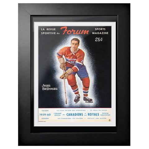 Montreal Canadiens Program Cover - Jean Beliveau 1959 at the Forum
