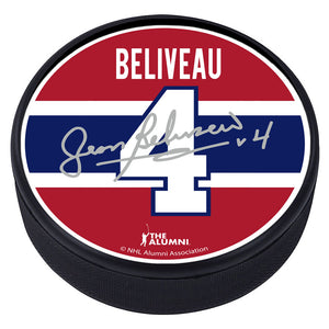 Montreal Canadiens™ J. Beliveau Souvenir Player Puck with Replica Signature