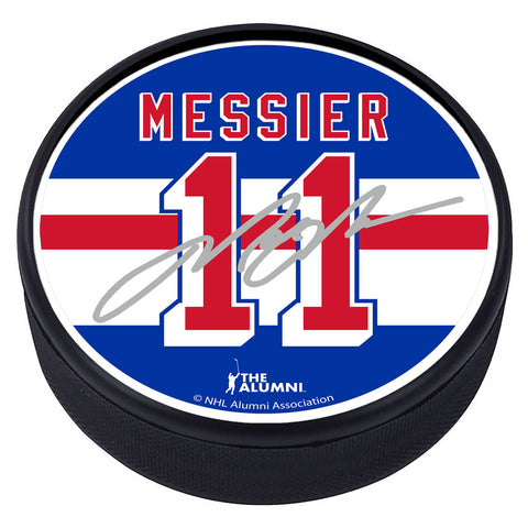 New York Rangers™ M. Messier Souvenir Player Puck with Replica Signature
