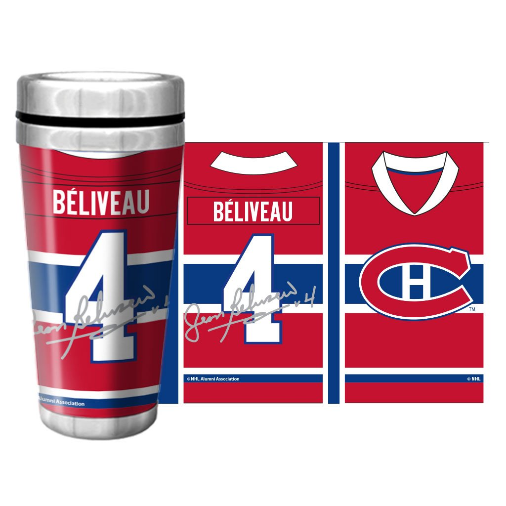 NHLAL Montreal Canadiens 16oz. Travel Mug Full Wrap - Beliveau