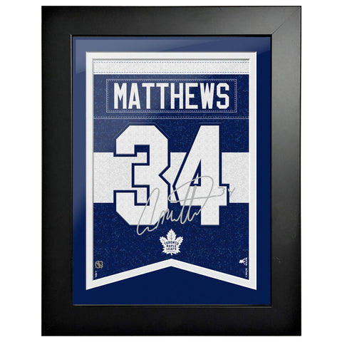 Toronto Maple Leafs Matthews 12x16 Framed Player Number with Replica Autograph