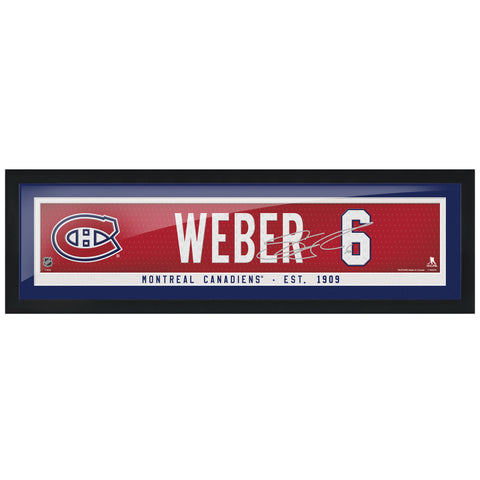 Montreal Canadiens Weber Framed Player Name Bar with Replica Autograph