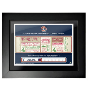 "12""x16"" World Series Ticket Framed Chicago Cubs 1935 G4"