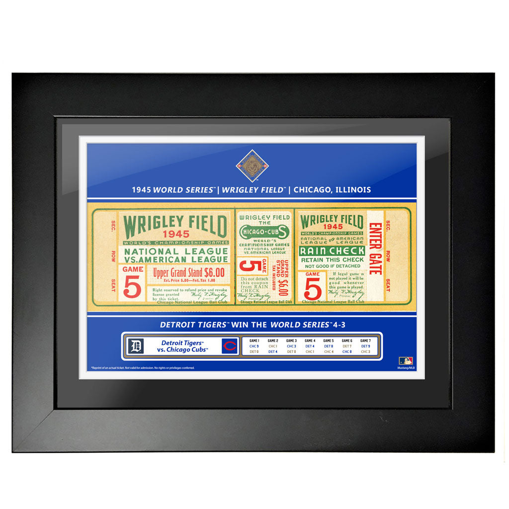 Chicago Cubs 12x16 1945 Game 5 World Series Framed Ticket