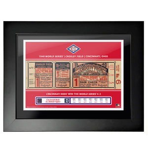 "12""x16"" World Series Ticket Framed Cincinnati Reds 1940 G1"