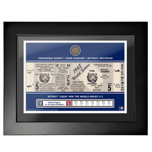 Detroit Tigers 12x16 1958 Game 5 World Series Framed Ticket