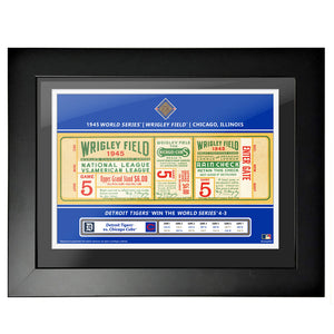 Chicago Cubs 18x24 1945 Game 5 World Series Framed Ticket
