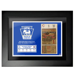 "18""x24"" World Series Ticket Framed Chicago Cubs 1929 G1"