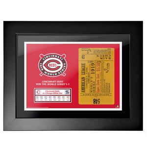 "18""x24"" World Series Ticket Framed Cincinnati Reds 1919 G3"