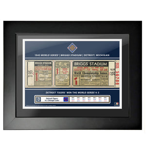 Detroit Tigers 18x24 1945 Game 1 World Series Framed Ticket