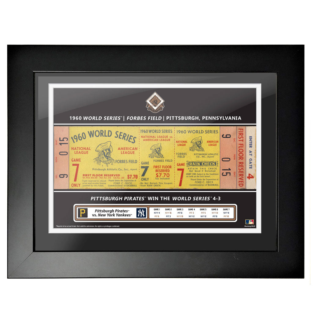 Pittsburgh Pirates 18x24 1960 Game 7 World Series Framed Ticket