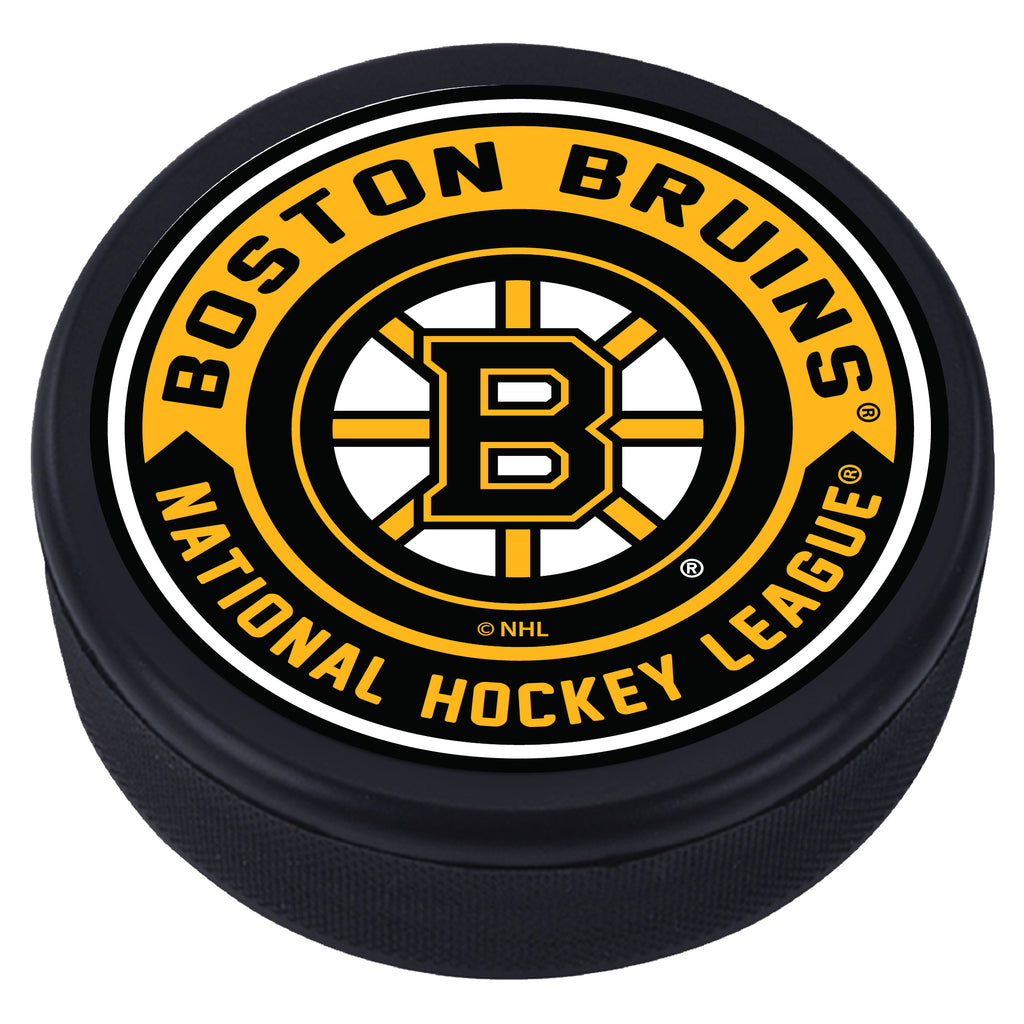 Boston Bruins Arrow Textured Puck