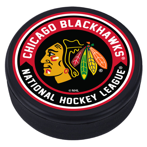 Chicago Blackhawks Arrow Textured Puck