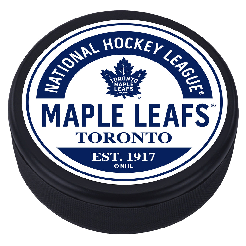 Toronto Maple Leafs Block Textured Puck