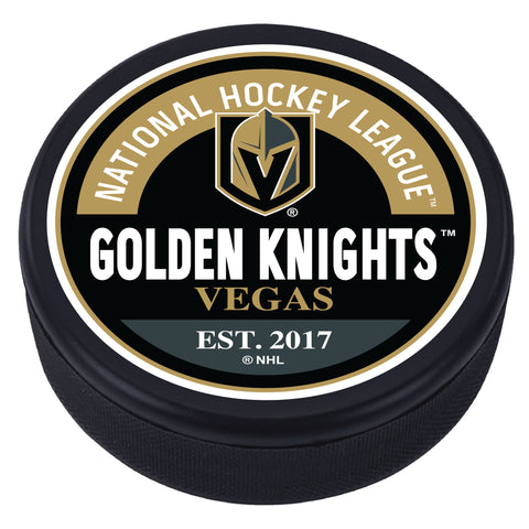 Vegas Golden Knights Block Textured Puck
