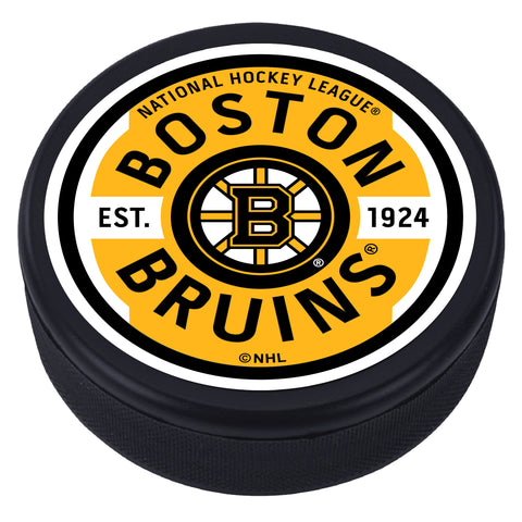 Boston Bruins Gear Textured Puck