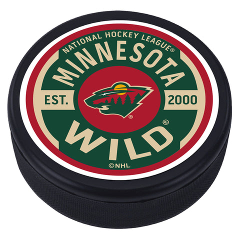 Minnesota Wild Gear Textured Puck