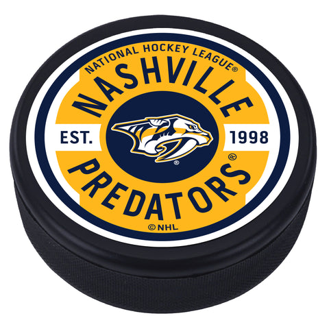 Nashville Predators Gear Textured Puck