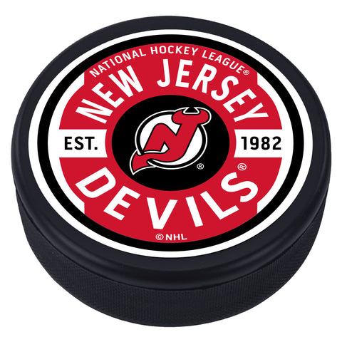 New Jersey Devils Gear Textured Puck