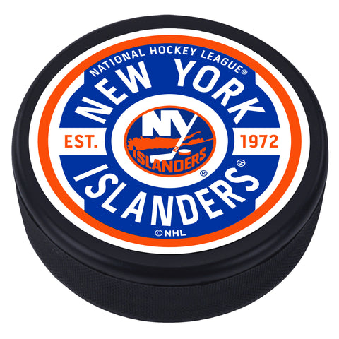 New York Islanders Gear Textured Puck