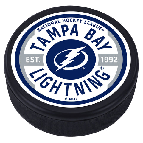 Tampa Bay Lightning Gear Textured Puck