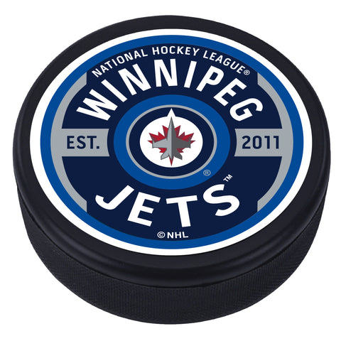 Winnipeg Jets Gear Textured Puck
