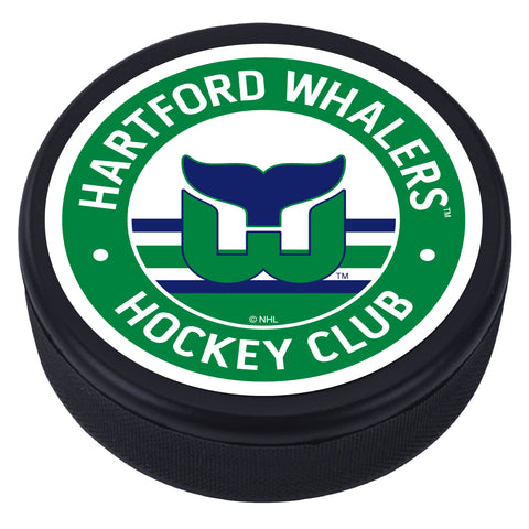 Hartford Whalers Green Vintage Textured Puck