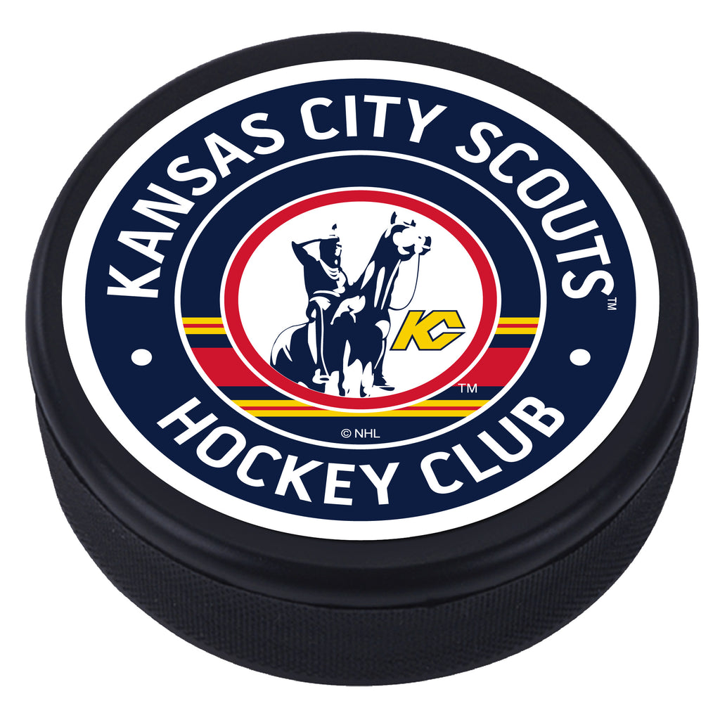 Kansas City Scouts Vintage Textured Puck