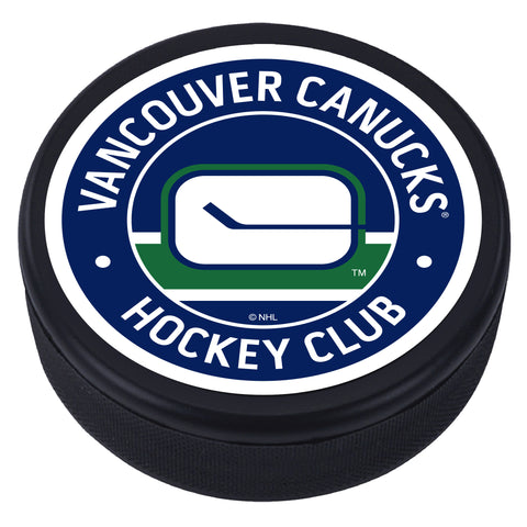 Vancouver Canucks Blue Vintage Textured Puck