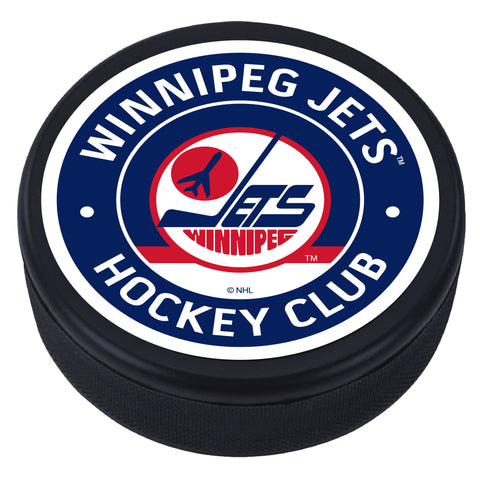 Winnipeg Jets Vintage Textured Puck