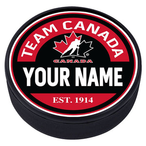 Team Canada Personalized Textured Puck