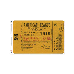 "24"" Repositionable W Series Ticket Chicago Cubs Left 1919G3L"