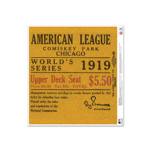 "24"" Repositionable W Series Ticket Chicago Cubs Right 1919G3R"