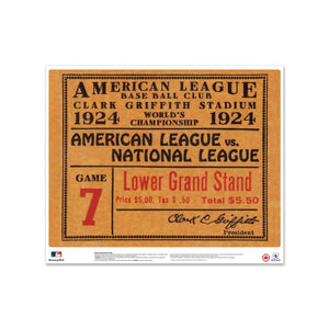 "24"" Repositionable W Series Ticket Washington Nationals Left 1924G7L"