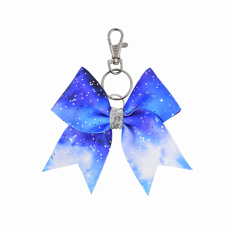 Blue Space hairbow keyring