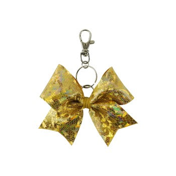 Gold Cracked Ice hairbow keyring