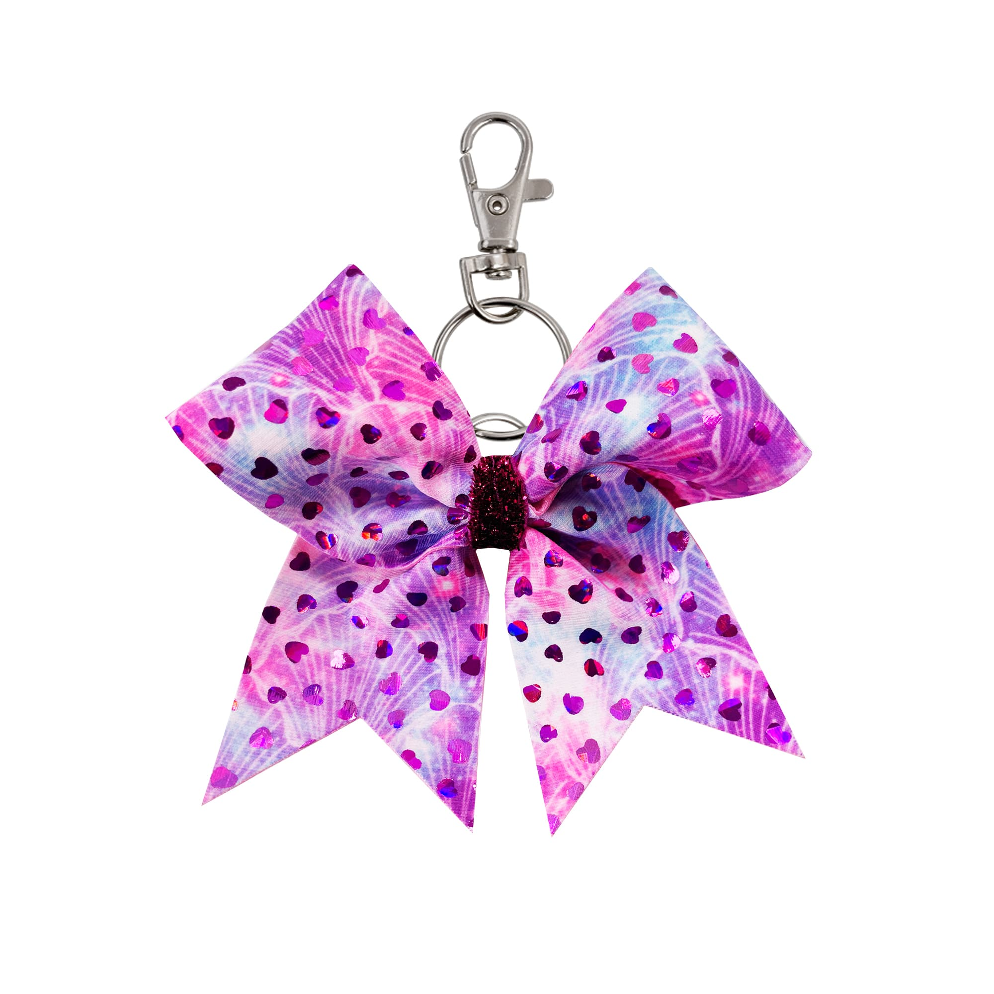 Heart Sprinkles hairbow keyring