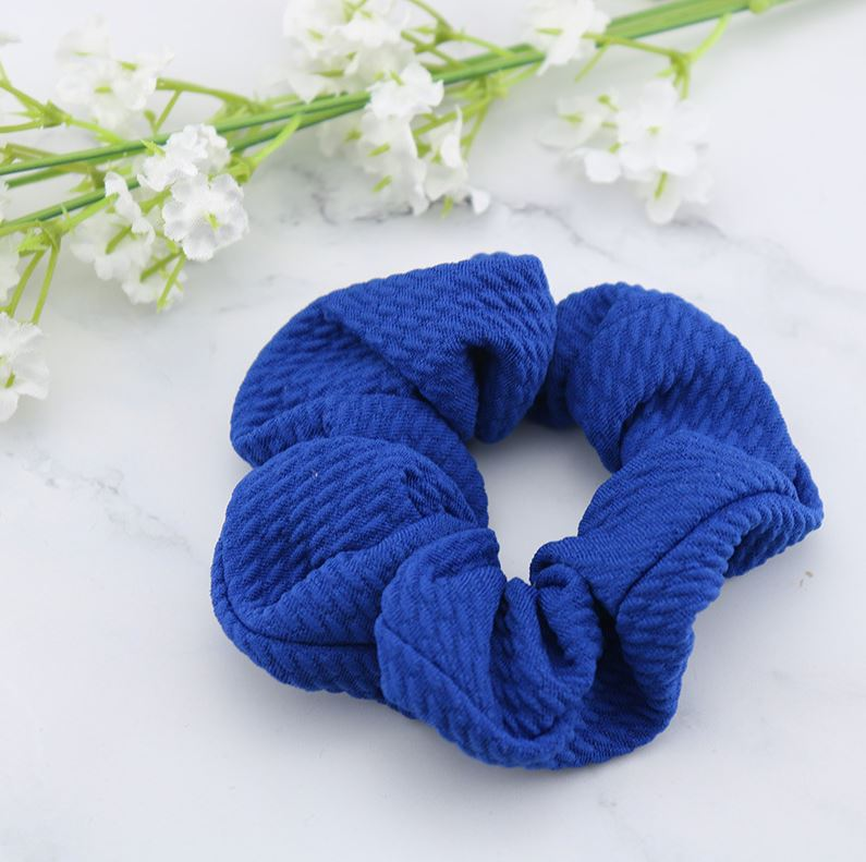 Creped scrunchie