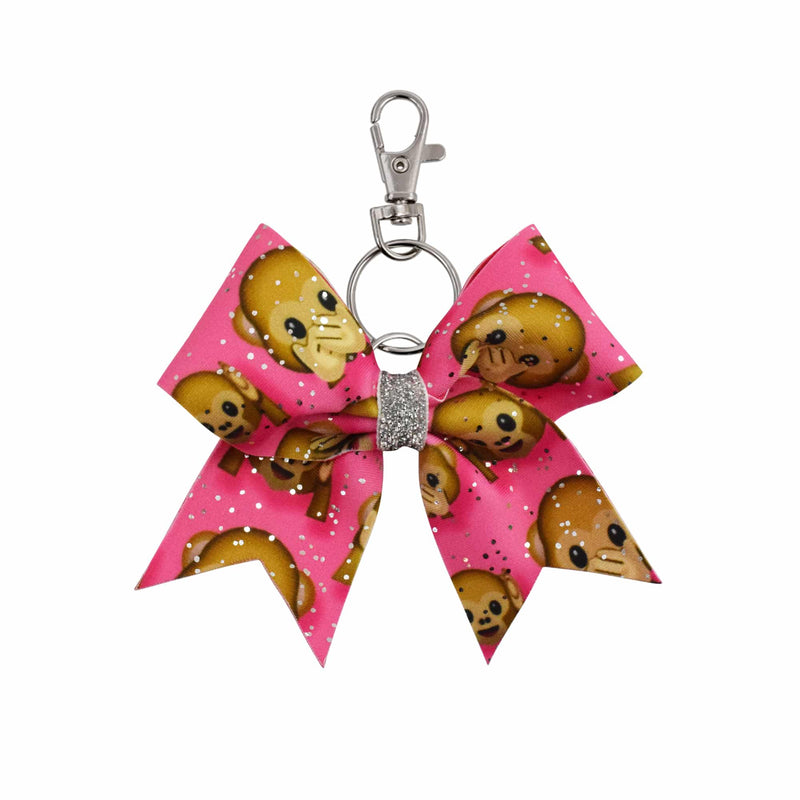 Cheeky Monkey hairbow keyring