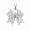 White Mermaid Scales hairbow keyring