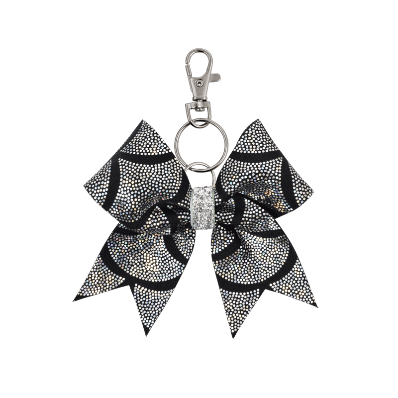 Black/Silver Mermaid Scales hairbow keyring
